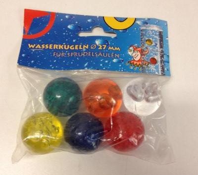 Sæt med 6 farverige bolde, Ø27 mm